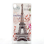 Transmission Tower Pattern Transparent Frosted PC Material Phone Case for Sony Xperia Z3