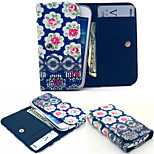 Flower PU Leather Wallet style Full Body Case and Card Slot for Sony Xperia M4 Aqua