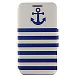 Kinston® Anchor Naval Stripe Pattern Full Body PU Cover with Stand for HTC One M7/M8/M9 and HTC Desire 816/826/Eye