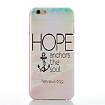 Anchors Pattern of Transparent Frosted PC Material Phone Case for iPhone 6