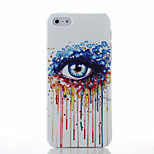 Eyes Pattern Transparent Frosted PC Material Phone Case for iPhone 5/5S