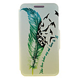 Kinston® Quill-pen Design Pattern PU Leather Full Body Cover with Stand for Huawei Honor 3C