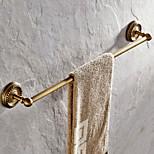 Antique Brass 24 Inch Single Towel Bars