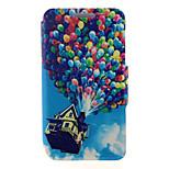 kinston® Ballonmuster Ganzkörper-PU-Abdeckung mit Standplatz für htc eins M7 / M8 / M9 und HTC Desire 816/826 / Augen