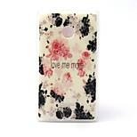Rose Flower Pattern TPU Material Phone Case And Screen Protector for Microsoft Lumia 435