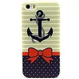 Bow Anchor Pattern TPU Soft Back Case for iPhone 5/5S