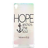 Anchors Pattern Transparent Frosted PC Material Phone Case for Sony Xperia Z3