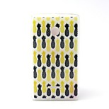 Pineapple Pattern TPU Material Phone Case And Screen Protector for Microsoft Lumia 435