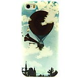 Fly Balloon Pattern TPU Soft Back Case for iPhone 5/5S