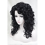 New Fashion CosplayCharming 50CM Black  Women's  Curly Synthetic Wig