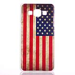 Americká vlajka vzor maloval matná transparentní ks materiál telefon pouzdro pro Samsung Galaxy a3