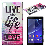 Love Life Pattern TPU Material Soft Phone Case for Sony Z1