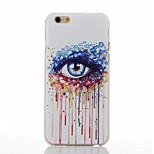 eye patroon van transparante frosted pc materiaal telefoon Case voor iPhone 6