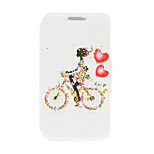 Kinston® Bike Girl Pattern PU Leather Full Body Cover with Stand for Huawei Honor 6X/6 Plus