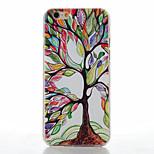 modèle d'arbre couleur de transparent dépoli cas matériel pc de téléphone pour iPhone 6