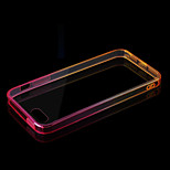 Transparent Acrylic + Gradient Border TPU Combo Phone Case for iPhone 5/5S(Assorted Colors)