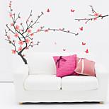 Wall Stickers Wall Decals, Flourishing Plum Blossom PVC Wall Stickers