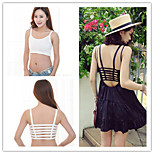 Women Sport Gym Athletic Padded Soft Bra Lace Leisure Crop Top Stretch Vest