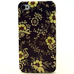 Sun Flower Pattern TPU Soft Back Case for iPhone 4/4S