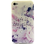 Beautiful Life Pattern TPU Soft Back Case for iPhone 4/4S