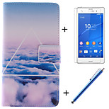 The Sky Clouds Pattern PU Leather Full Body Case with Stand and Card Slot for Sony Xperia Z4