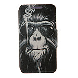 Kinston® Smoking Monkey Pattern PU Leather Full Body Cover with Stand for Huawei Honor 4X/Honor Che1-CL20