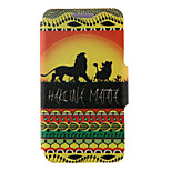 Kinston® Hakuna Matata Pattern Full Body PU Cover with Stand for HTC One M7/M8/M9 and HTC Desire 816/826/Eye