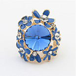 Ring Adjustable Party Jewelry Alloy / Acrylic Women Statement Rings 1pc,One Size White / Blue