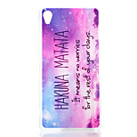 Star Pattern Transparent Frosted PC Material Phone Case for Sony Xperia Z3