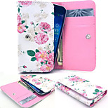 Flower PU Leather Wallet style Full Body Case and Card Slot for Sony Xperia E3