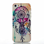 Campanula Pattern Transparent Frosted PC Material Phone Case for iPhone 5/5S