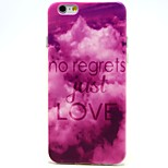 Purple Clouds Pattern TPU Material Soft Phone Case for iPhone 6