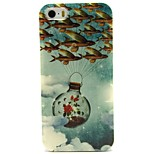 Fly Fish Pattern TPU Soft Back Case for iPhone 5/5S
