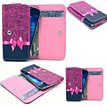 Red Leopard PU Leather Wallet style Full Body Case and Card Slot for Sony Xperia E3