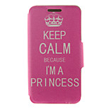 Kinston® Crown Proverb Pattern Full Body PU Cover with Stand for HTC One M7/M8/M9 and HTC Desire 816/826/Eye