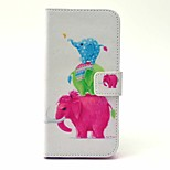 EFORCASE® Three Elephant Painted PU Phone Case for iphoneSE/5S/5/6/6S/6plus/6S plus
