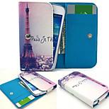 Paris Eiffelturm PU-lederne Mappe Stil voller Körpergehäuses und Karten-Slot für Sony Xperia m4 aqua