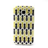 design de mode Coco Fun® noir&jaune ananas motif IMD étui souple TPU pour Samsung Galaxy J1
