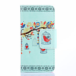 Fashion Design COCO FUN® Red Bird In Birdcage Pattern Wallet Slot Full Body PU Leather Case for LG G3 MINI