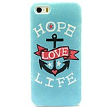 Love Life Pattern TPU Soft Back Case for iPhone 5/5S