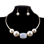 Women Crystal /Pearl Jewelry Set Necklace/Earrings Wedding / Party / Daily / Casual 1set
