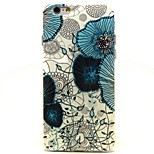 Blue Flowers Pattern TPU Material Soft Phone Case for iPhone 6