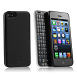 Sliding Bluetooth Keyboard and Hardshell Case with Backlight for iPhone 5/5s(Black)