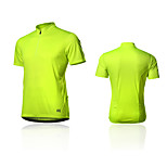 SPAKCT Bike/Cycling T-shirt / Jersey / Tops Men's Short Sleeve Breathable / Reflective Strips 100% Polyester Classic / SlimWhite / Green