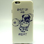 Weightlifting Dog Pattern TPU Material Soft Phone Case for iPhone 6