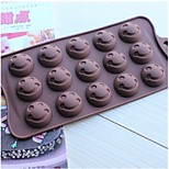 Fashion Face Silicone Mold Chocolate Ice Jelly Pudding Decorating Kitchen Bakeware Cooking Cake Tools (Random Color)