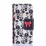 høj kvalitet mode design coco fun® sort blomst vin mønster pu læder tegnebogen sag Cover til Samsung Galaxy s6 kant