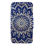 Kinston® Blue Sun Flowers Pattern Full Body PU Cover with Stand for HTC One M7/M8/M9 and HTC Desire 816/826/Eye