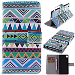 National Wind Patterns PU Leather Full Body Case with Stand and Card Slot for Sony Xperia Z4