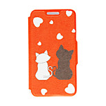 Kinston® Romantic Cat Pattern PU Leather Full Body Cover with Stand for HTC One M9 Plus/ HTC One M9+